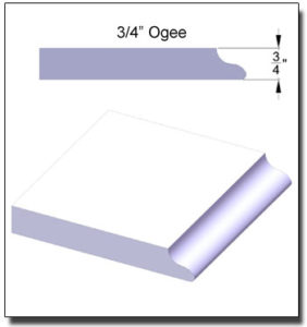 3/4-inch Ogee Edge