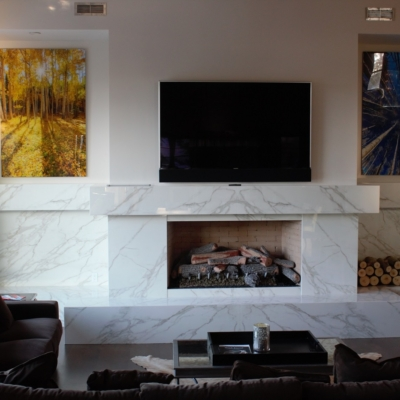 marble fireplace living room