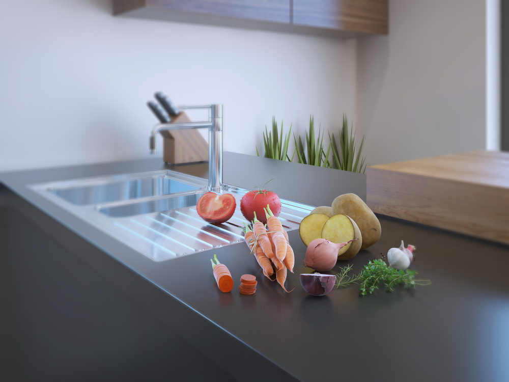 uses for slate in kitchens and bathrooms