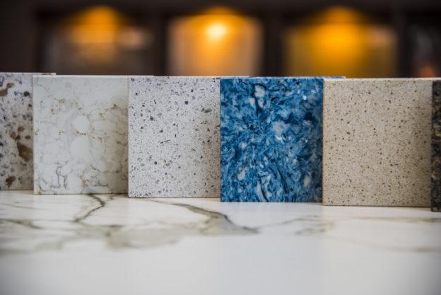 cleaning organizing quartz countertops